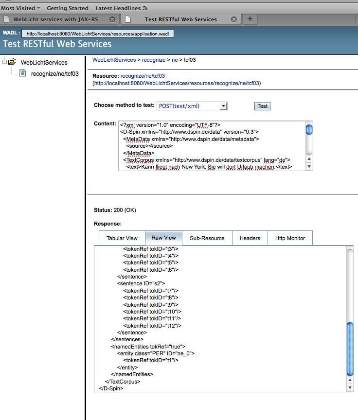 WebLicht services with JAX-RS tutorial